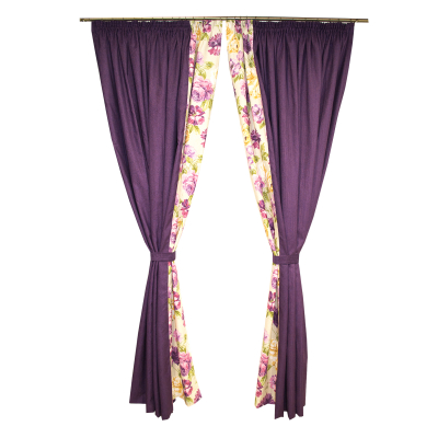 Set draperii Velaria flori mov, diverse dimensiuni4