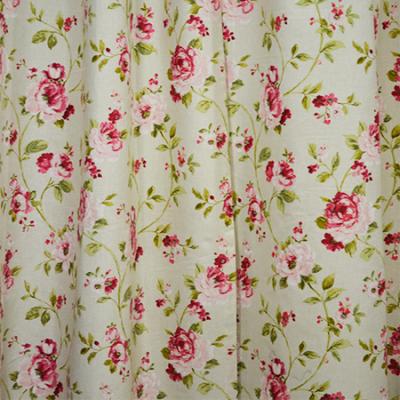 Set draperii Velaria flori rosii, 2x135x260 cm2
