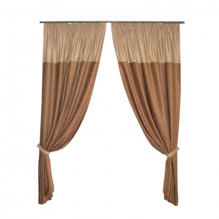 Set draperii Velaria ciocolata 2x140x260 cm0