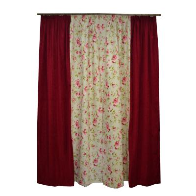 Set draperii Velaria flori rosii, 2x135x260 cm1