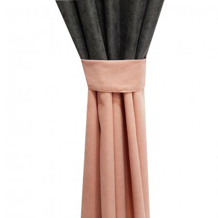 Set draperii Velaria roz-gri, 2x135x240 cm2