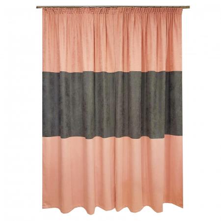 Set draperii Velaria roz-gri, 2x135x240 cm1