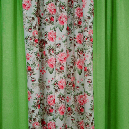 Set draperii Velaria floral verde 2x190x260 cm2