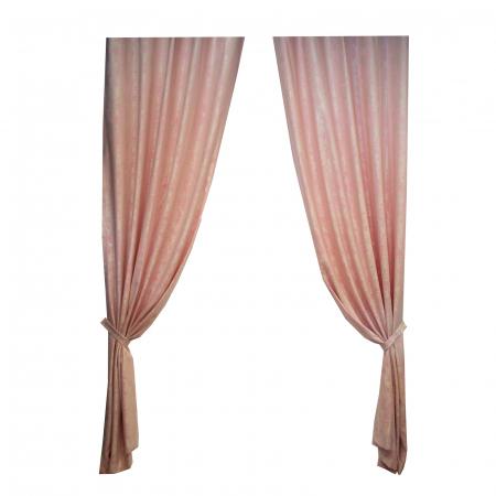 Set draperii Velaria Asos roz cu rejansa2