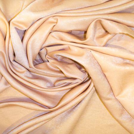 Set draperii Velaria soft auriu cu capse, 2*140x160 cm2