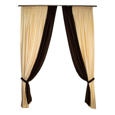 Set draperii Velaria unt cu wenge, 2x200x250 cm0