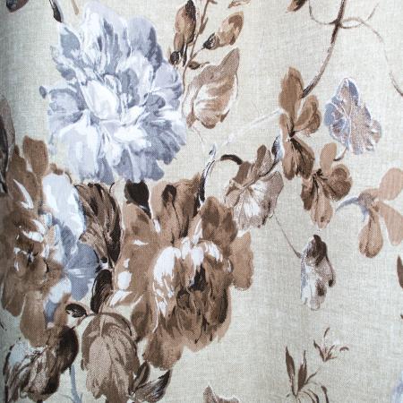 Set draperii Velaria in flori brown cu capse, 2*225x230 cm4