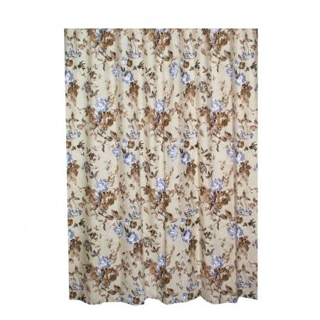 Set draperii Velaria in flori brown cu rejansa3