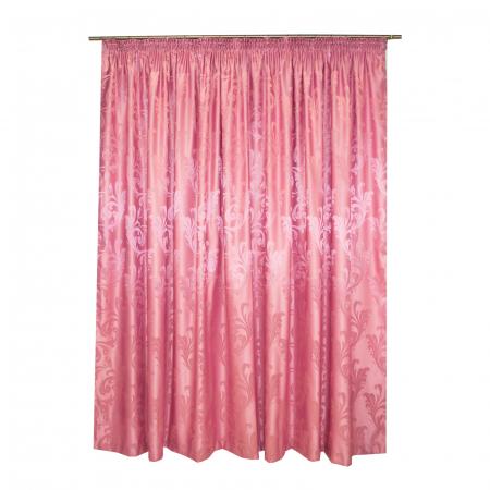 Set draperii Velaria jacard roz, 2*315x245 cm2