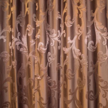Set draperii Velaria jacard wenge, 2*115x250 cm2