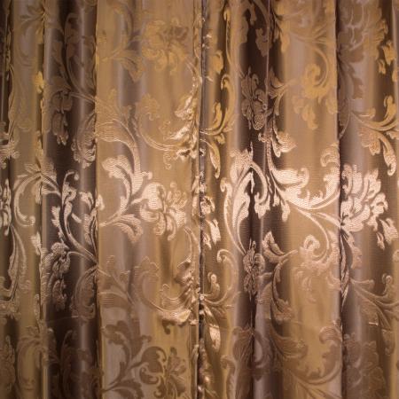 Set draperii Velaria jacard maro1
