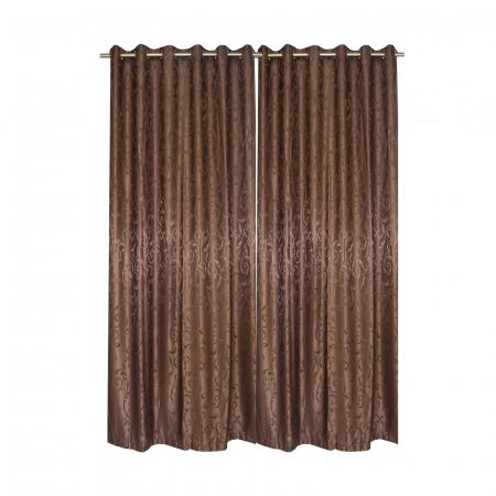 Set draperii Velaria jacard wenge, 2*150x220 cm2