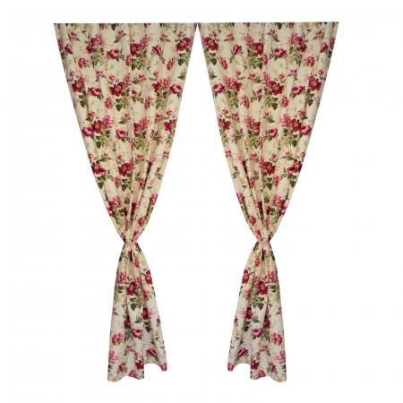 Set draperii Velaria flori rosii [1]