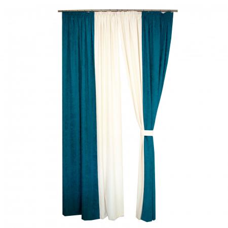 Set draperii Velaria turcoaz-unt, 2*140x260 cm [2]