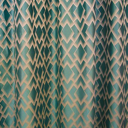 Set draperii Velaria romburi turcoaz, 2*150x260 cm [2]