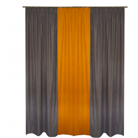 Set draperii Velaria gri-portocaliu, 2*160x260 cm [1]