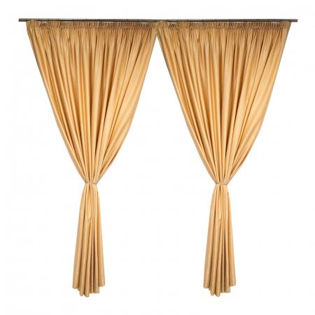 Set draperii Velaria soft auriu, 2*260x245 cm1