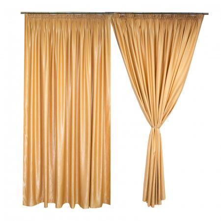 Set draperii Velaria soft auriu, 2*260x245 cm0