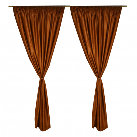 Set draperii Velaria soft maro, 2*210x245 cm0