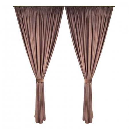 Set draperii Velaria catifea roz prafuit0