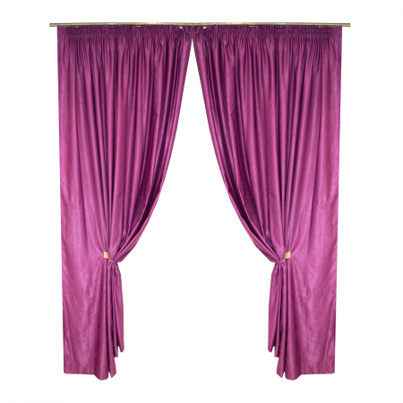 Set draperii Velaria soft pruna, 2*230x245 cm0