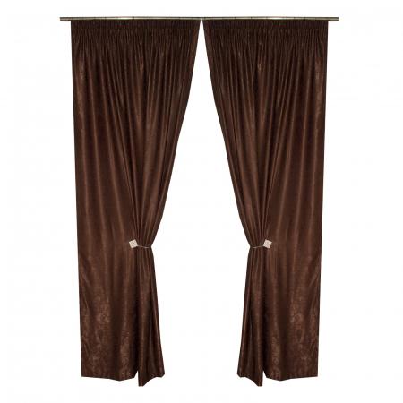 Set draperii Velaria soft maro, 2*135x245 cm0