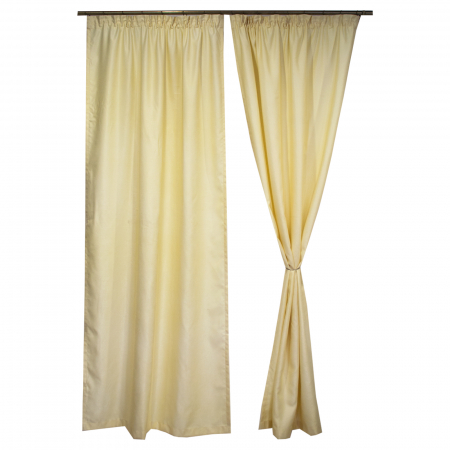Set draperii Velaria soft unt, 2*115x245 cm0