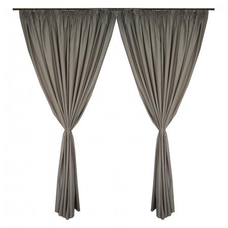 Set draperii Velaria soft gri, 2*270x245 cm0