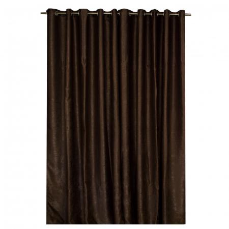 Set draperii Velaria soft wenge cu capse, 2*150x270 cm [1]