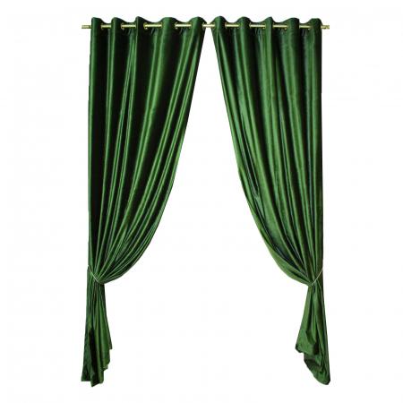 Set draperii Velaria catifea verde metalic, 2*150x270 cm0