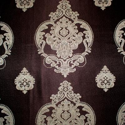 Set draperii Velaria tafta wenge cu baroc bej1