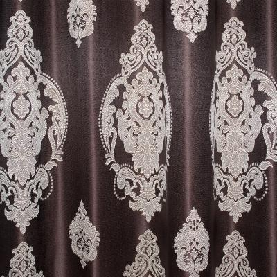 Set draperii Velaria tafta wenge cu baroc bej3