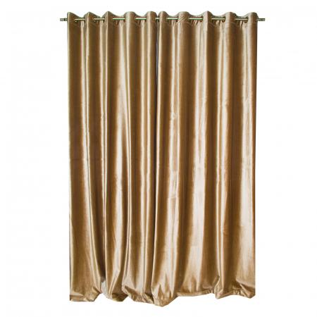 Set draperii Velaria catifea caramel cu capse [3]