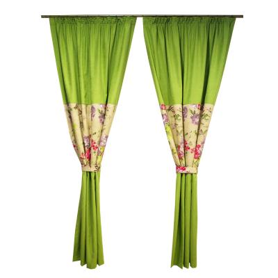 Set draperii Velaria verde crud, 2x115x235 cm0