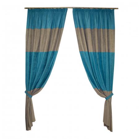 Set draperii Velaria turcoaz-gri0