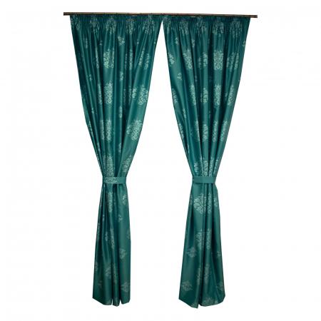 Set draperii Velaria tafta baroc turcoaz, 2*150x260 cm [0]