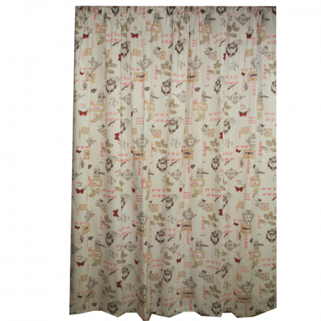 Set draperii Velaria in fluturi paris rosu 120x270x20