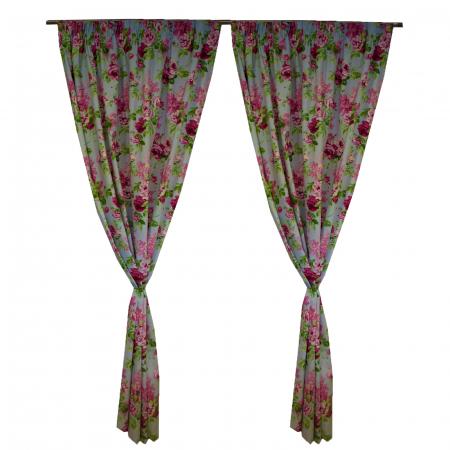 Set draperii Velaria trandafiri roz3