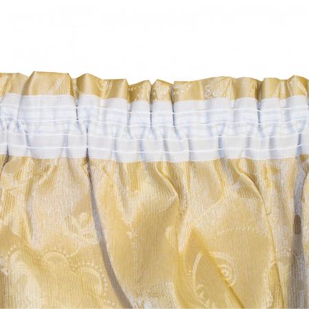 Set draperii Velaria tafta cu caramiziu, 2x160x260 cm3