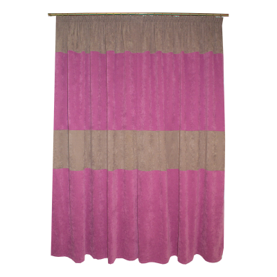 Set draperii Velaria milas mov-gri, 2x140x230 cm2