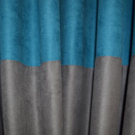 Set draperii Velaria turcoaz gri 2x200x230 cm2
