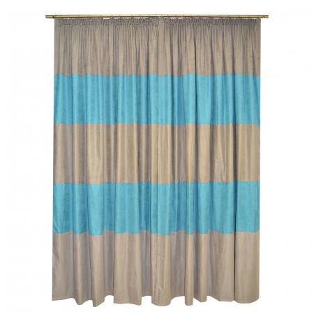 Set draperii Velaria turcoaz gri 2x200x230 cm1