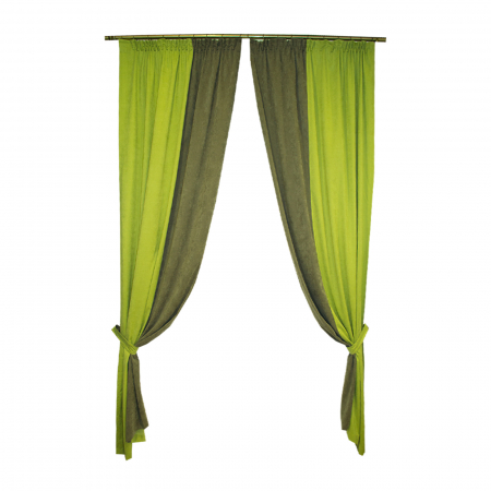 Set draperii Velaria verde-gri, 2x130x260 cm0