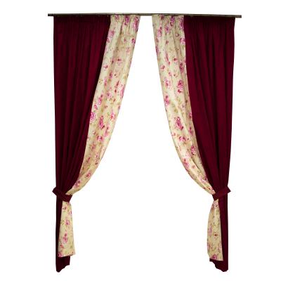 Set draperii simfonie roz, 2x150x260 cm0