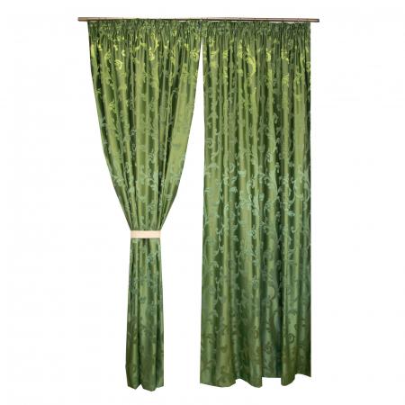 Set draperii Velaria jacard verde, 2*170x260 cm [1]