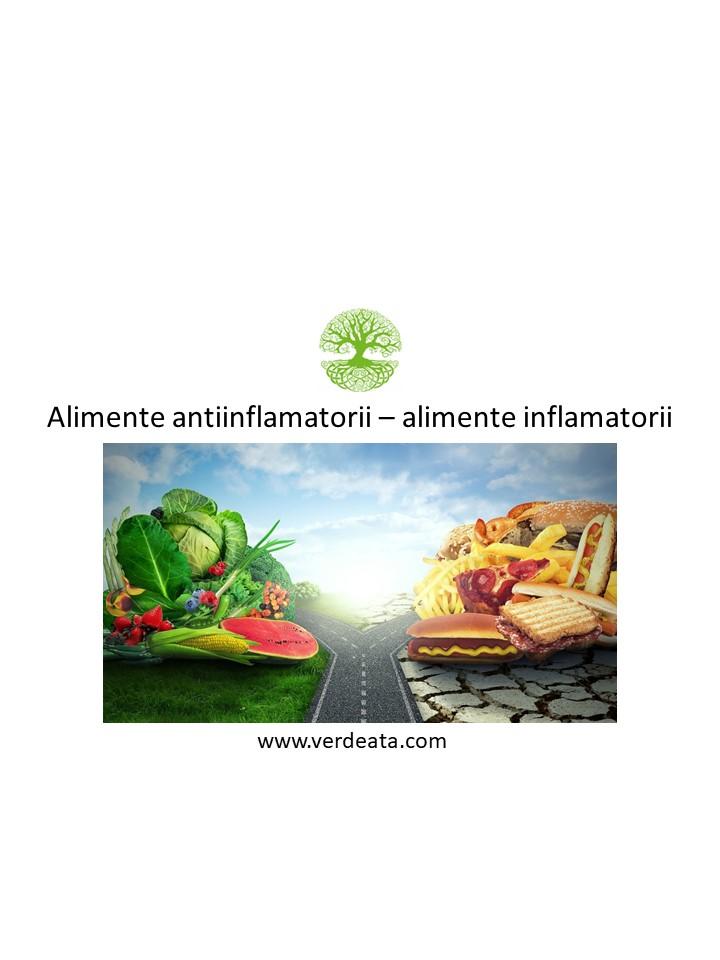 Alimente antiinflamatorii - alimente inflamatorii