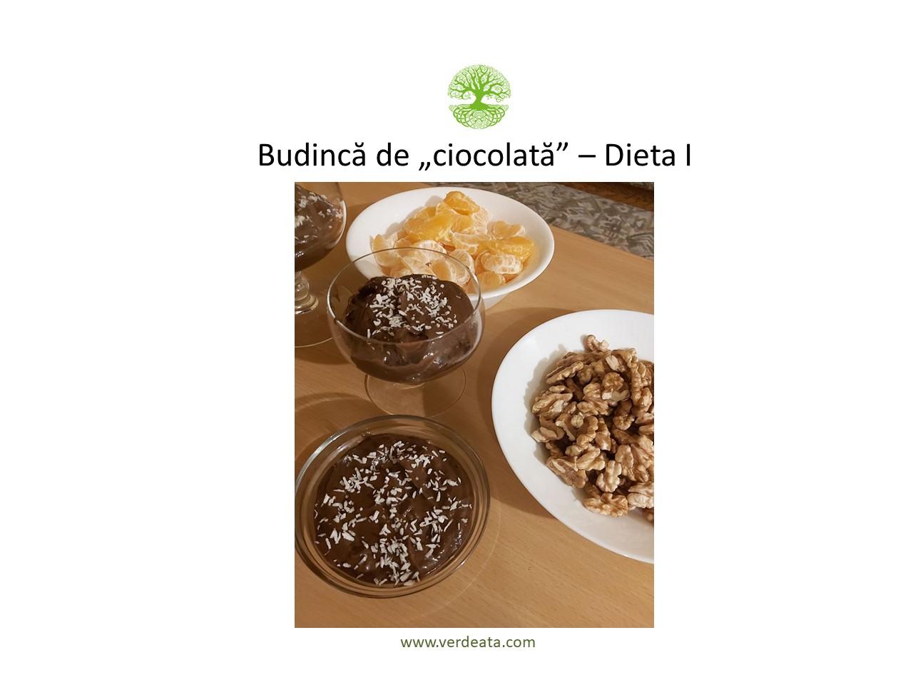 """Budinca de """"ciocolata"""" - Dieta I"""