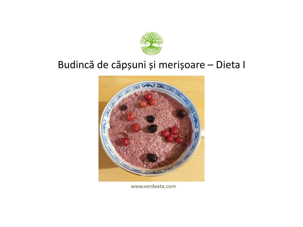 Budincă de căpșuni și merișoare - Dieta I