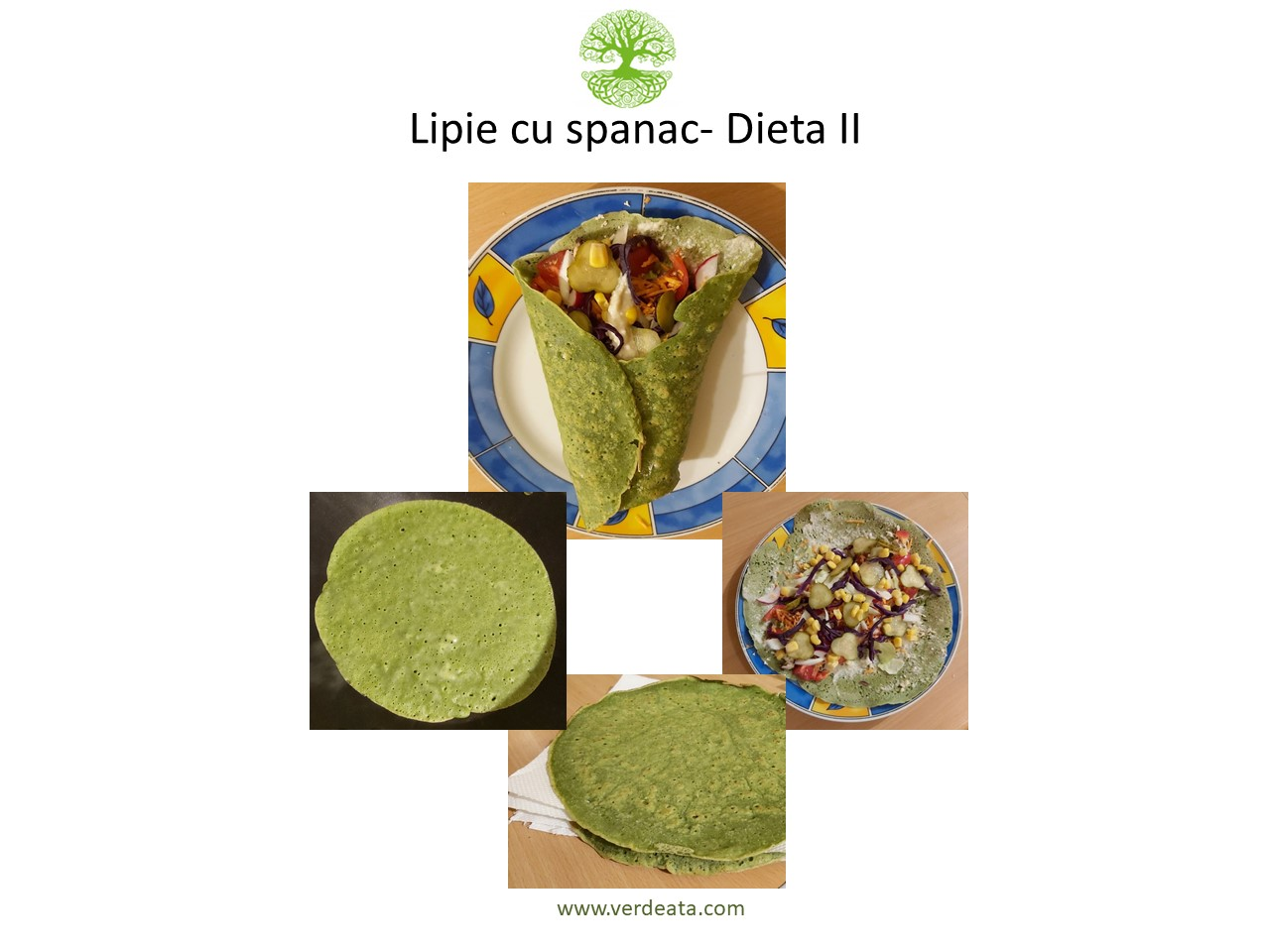 Lipie (sau clătită) cu spanac - Dieta II
