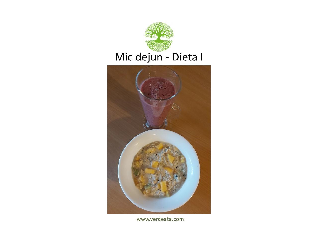 Mic dejun - lapte vegetal cu fulgi de ovaz, fructe si seminte - Dieta I
